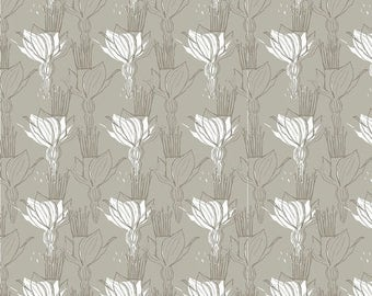 CIJ CLEARANCE!  Blomma, Blend Fabrics, Gray, 1/2 Yard