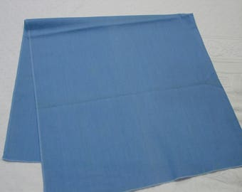 "Vintage Cotton Fabric Solid Blue, 35"" Wide x 35"" Quilting, Crafts"