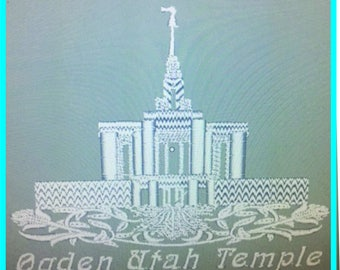 Ogden Utah Temple - Lace Edge