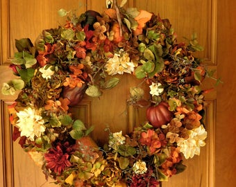 Fall Wreath, Autumn Wreath , XL Fall Wreath , Woodland Wreath , Wreath For The Door , Fall Decor, Country Wreath , Ready To SHIP