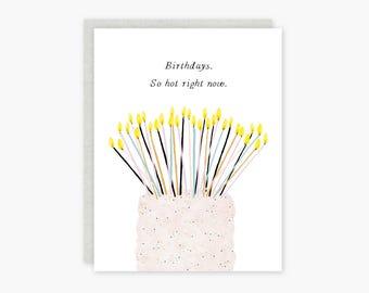Birthdays So Hot card