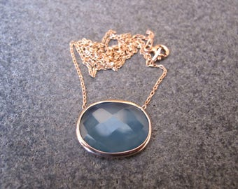 Chalcedony Gold Plated Sterling Silver Necklace