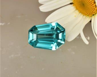 Blue Zircon Fancy Shape 12.2 x 9.1 MM Over 6 Carats Precision Cut Gem