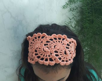 Summer Beach Headband - Crochet Beach Accessories - Crochet Summer Hairband - Crochet Womens Bandana - Head Wrap Band