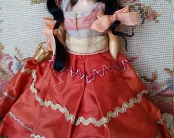 "very old, Mexican Adelita 11"" doll"