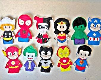 Super Hero Inspired Finger Puppets