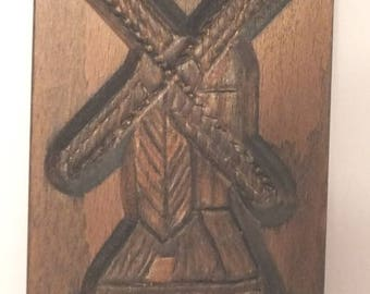 Wood Windmill Dutch Wipmolen Biscuit Form Mold