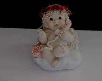 1997 Dreamsicles Angel On Telephone Figurine