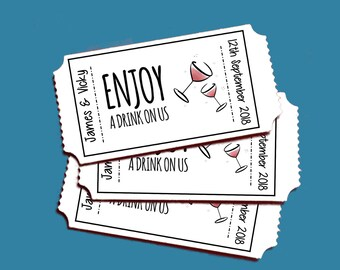 complimentary drink ticket template - drink tickets etsy