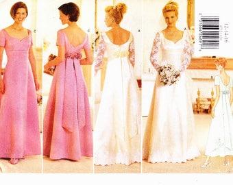 Butterick 4772 Szs 12-14-16 Wedding Dress, Bridal Gown, Bridesmaid, Prom, Evening Dress UNCUT Vintage