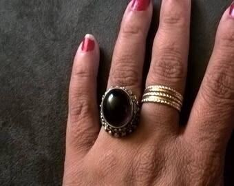 sterling silver amethyst stone ring