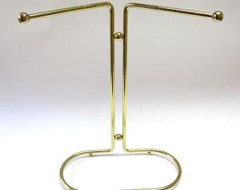 Modern Brass Guest Towel Holder Necklace Organizer