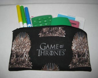 Game Of Thrones Pencil Case Or Cosmetic Pouch.