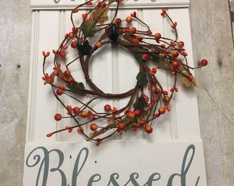 Fall Wall Hanging - Fall Door Hanger - Fall wreath - Fall Gallery Wall Sign - Fall sign - We are Blessed sign