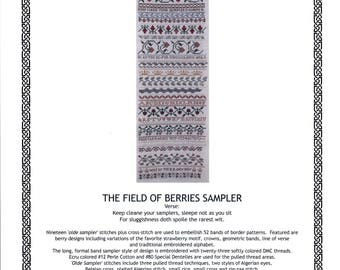 The Sampler House: The Field of Berries Sampler (OOP)  - Cross Stitch Pattern
