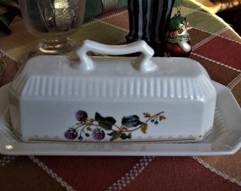 covered butter dish, Nikko butter dish