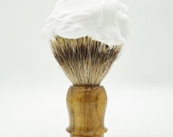 Badger Shave Brush Pure Black Badger, Silvertip Badger, High Mountain Badger