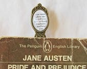 Pride and Prejudice Quote Bookmark Jane Austen You Must Allow Me To Tell You How Ardently I Admire and Love You. Mr Darcy Book Clip