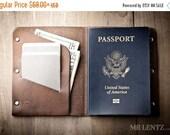 SALE - Passport Wallet, Leather Passport Wallet, travel wallet, passport case, leather passport holder, document wallet 040