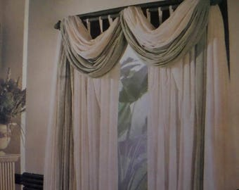 WINDOW SWAG Pattern • McCalls 8142 • Window Treatments • Custom Loop Curtains • Sewing Patterns • Home Decor Patterns • WhiletheCatNaps