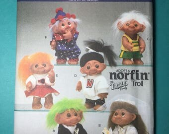 Vintage Butterick Pattern 6439 - Norfin Troll Doll Clothes