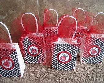 Ladybug Party Favor Sized Bags - Set of Six