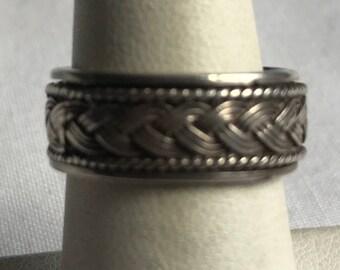 Vintage Sterling Silver Spinner Ring-Size 7