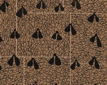 Gleaned Wings in Brown, Carolyn Friedlander, Robert Kaufman Fabrics, 100% Cotton Fabric, AFR-17290-16 BROWN
