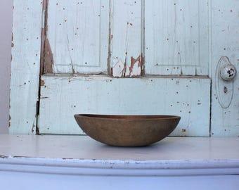 Vintage Wood Munising Bowl // Farmhouse Decor