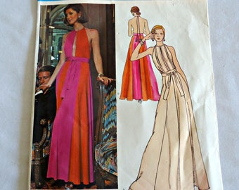 Vogue 2958 Sewing Pattern Designer Pucci 1970's Dress  Couture  Size 10