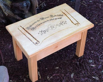 Wood Burned Wiccan Altar Eight Words the Wiccan Rede Fulfill