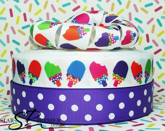 "7/8"" - 1"" Ice Cream Grosgrain Ribbon"