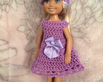 "Chelsea doll dress set, Barbie little sister, 5.5"" doll clothes, Barbie fashion"