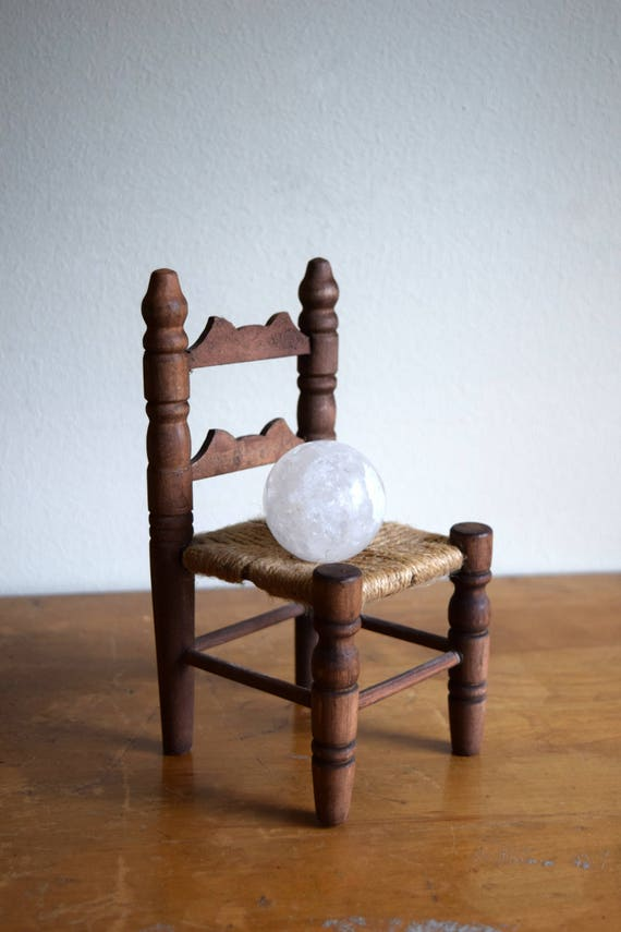 Vintage Wooden Doll Chair - Farmhouse, Shabby Chic, Cottage, Rustic, Folk