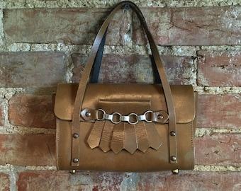1960's Vintage Leather Mini Handbag Purse