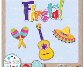 Fiesta Cutting Files & Clip Art - Instant Download