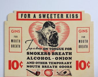 Vintage Gins for Mouth Breath Advertisement 1950s
