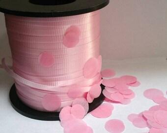 PINK curling ribbon gift bag ribbon confetti balloon ribbon 10 yards yds gift wrap gift tag pastel light party birthday party balloons