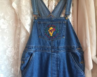 Vintage bib overalls with Winny the Pooh Size large