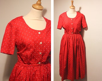 Vintage Red & White Polkadot Dress