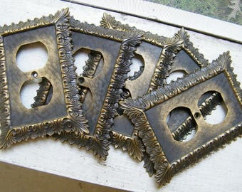 Set of 5 Vintage Mid Century Hollywood Regency Outlet Cover Plates
