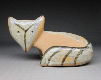 Lisa Larson pottery fox , this piece is not signed Design : Lisa Larson , Lilla Zoo   Gustavsberg Sweden
