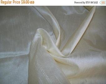15% off on Half yard 100 percent pure ivory white  dupioni  silk