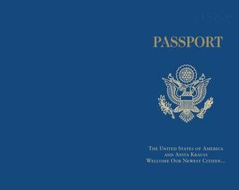 Custom Adoption Announcement | US Passport Foreign Baby Announcement | Custom Baby Announcement Card | US Passport Announcement