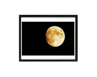 Modern moon art print, Full moon art print, Halloween Moon, night mystery, super moon, modern art, Halloween moonlight, midnight art print