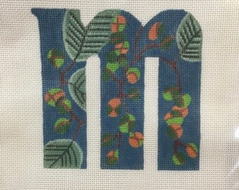 "HAWAIIAN NEEDLEPOINT Kit  ""M"" - The Station Authentic and Original"