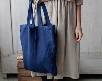 BLUEBELL Joanna Navy Blue Tote Bag, Navy Tote Bag Canvas, Teacher Tote Bag, Laptop Bag, Lunch Bag, Diaper Bag, Shopping Bag, Boho Bag