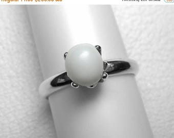 Giant Clam Pearl Ring in Silver, 7 x 6 mm