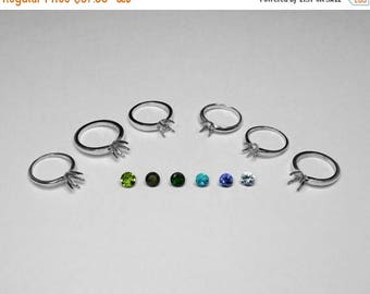 Choice of 6 mm Gemstones and Silver Settings, Part 1