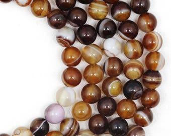 62 AGATE Gemstone Beads - 6mm - COD9687